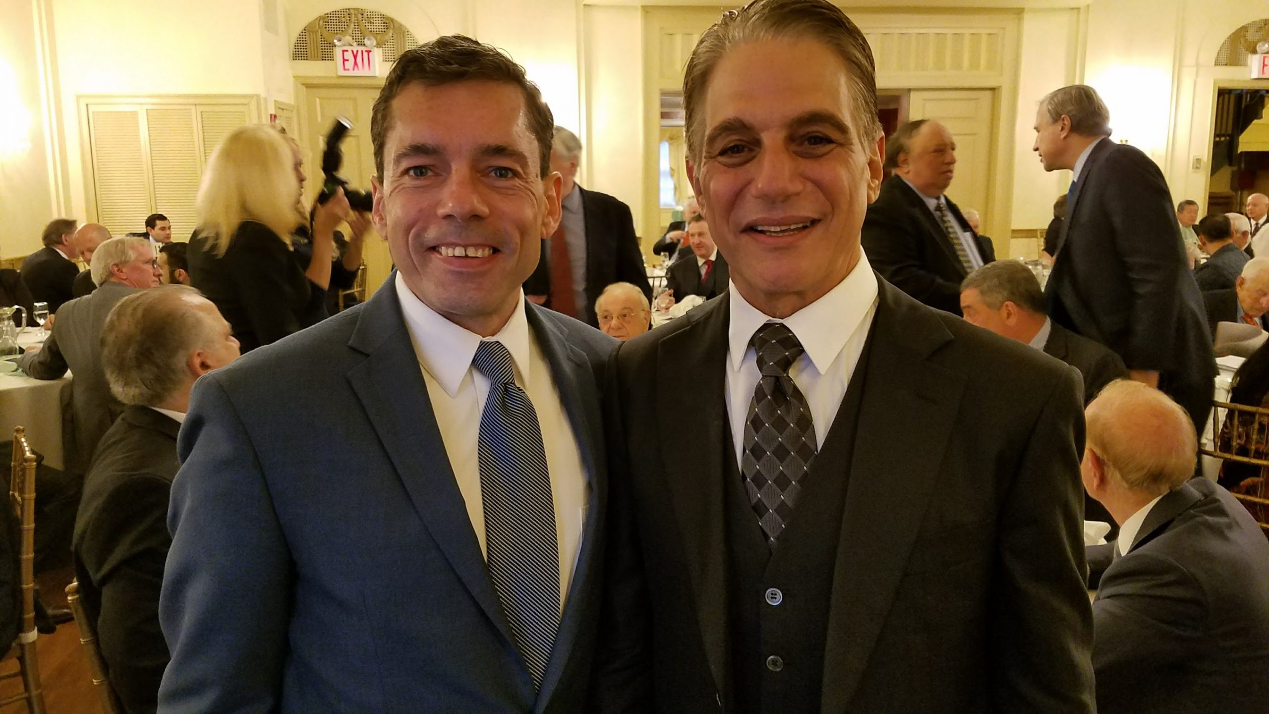 Tony Danza and Mark Derho at NYC PAL Event (2017)