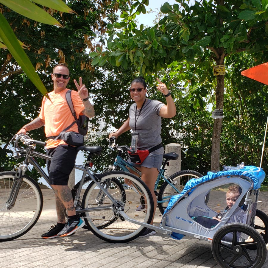 rent bike car free bike paths and bike-friendly areas in Condado and Old San Juan are plentiful.