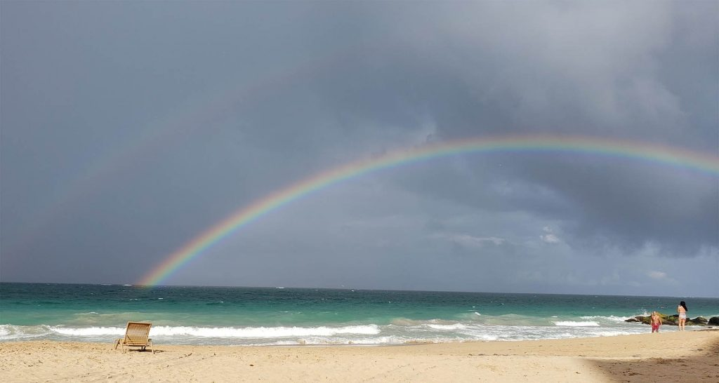 1920×1024 double rainbow atlantic beach condado san juan puerto rico mark derho photgrapher